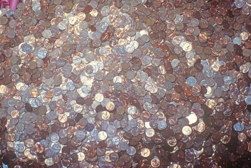 pennies lizenzfreie stockbilder