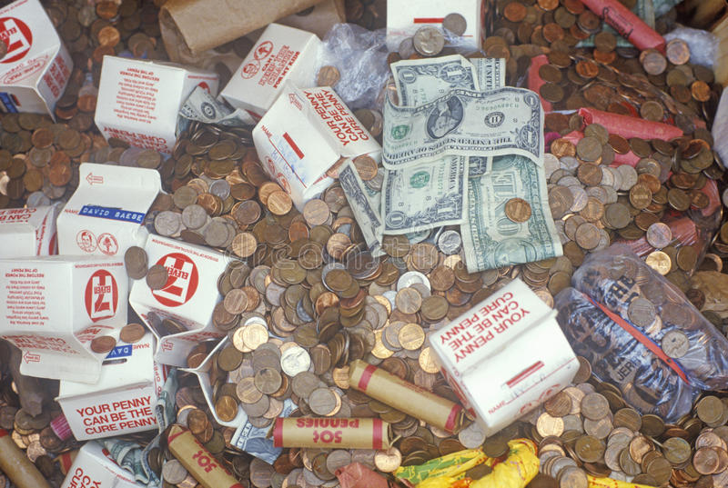 pennies lizenzfreie stockfotos