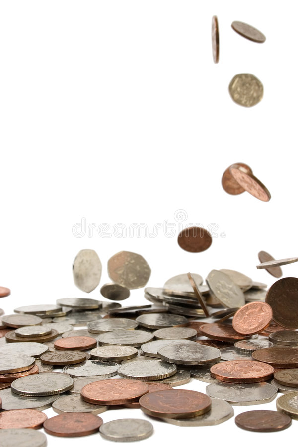 Download Pennies from Heaven stock image. Image of background, money - 145479