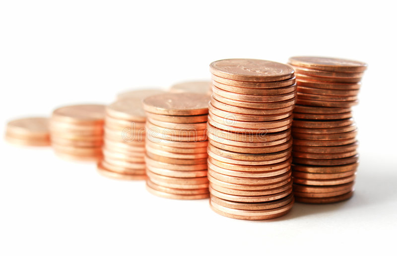 Download Pennies IV stock photo. Image of mint, counting, cheap - 2075522