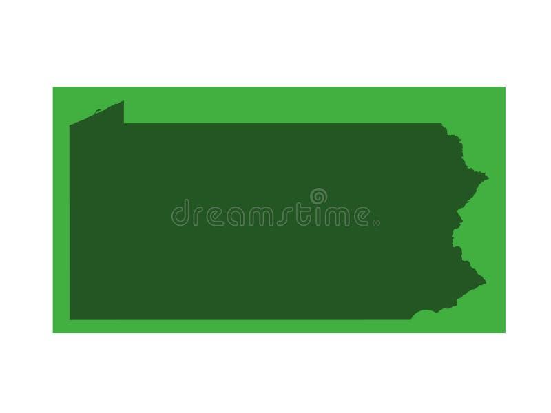 Pennsylvania översikt - brittiska samväldet av Pennsylvania vektor illustrationer