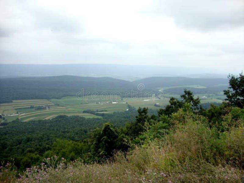 Pennsylvania Farmland Overcast Day Hills fotografia stock