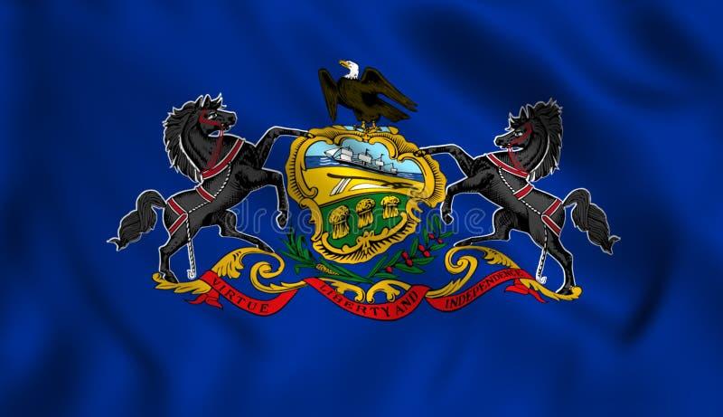 Pennsylvania flag US state symbol vector illustration