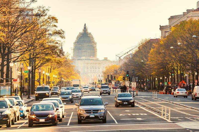 Pennsylvania gata i Washington DC royaltyfria bilder