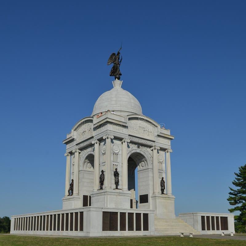 Pennsylvania monument på Gettysburg arkivbild