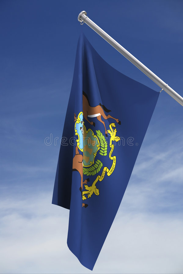 Download Pennsylvania State Flag stock illustration. Illustration of clipping - 3268983