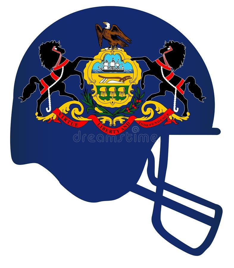 Pennsylvania State Flag Football Helmet stock illustration
