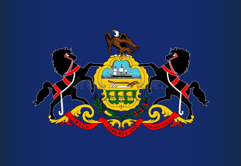Pennsylvania State Flag royalty free illustration