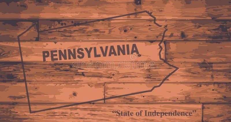 Pennsylvania State Map Brand stock illustration