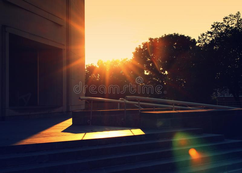 Pennsylvania State Museum Building with Sunflare. Location is Harrisburg, Pennsylvania royalty free stock images