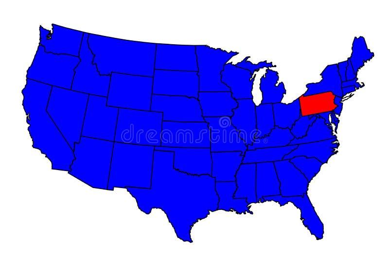 State of Pennsylvania Location royalty free illustration