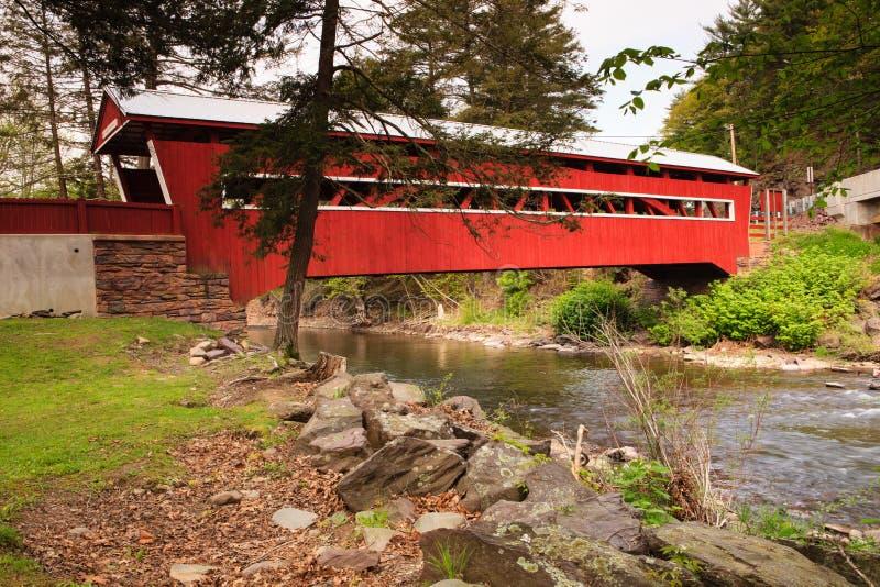 Pennsylvania täckte bron royaltyfria foton