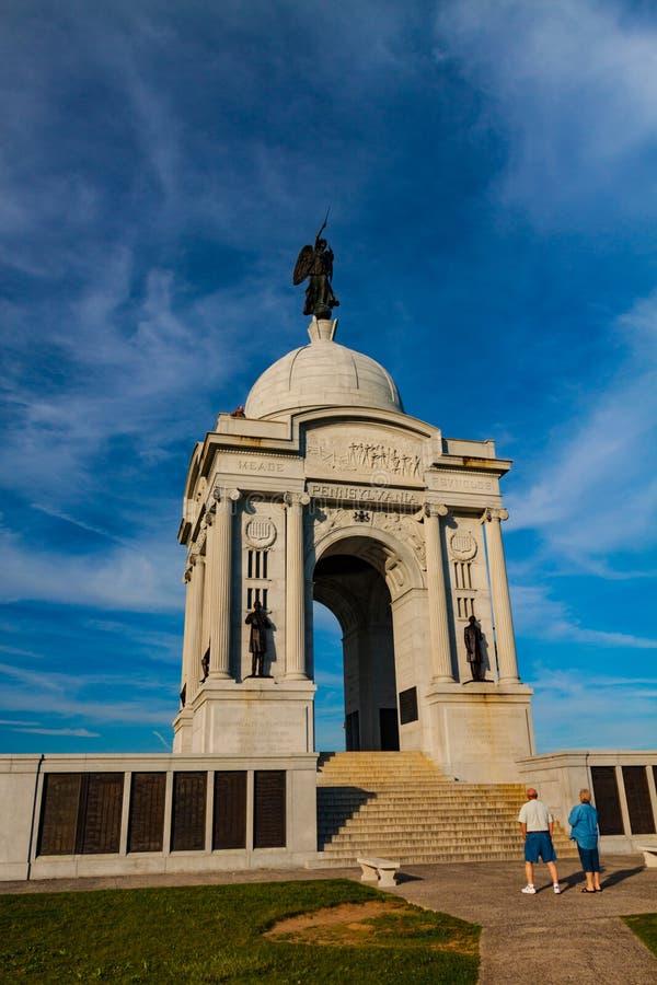 Pennsylwania stanu Pamiątkowi goście w Gettysburg PA obrazy stock