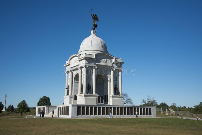 Pennsylwania stanu pomnik na Gettysburg polu bitwy zdjęcia royalty free