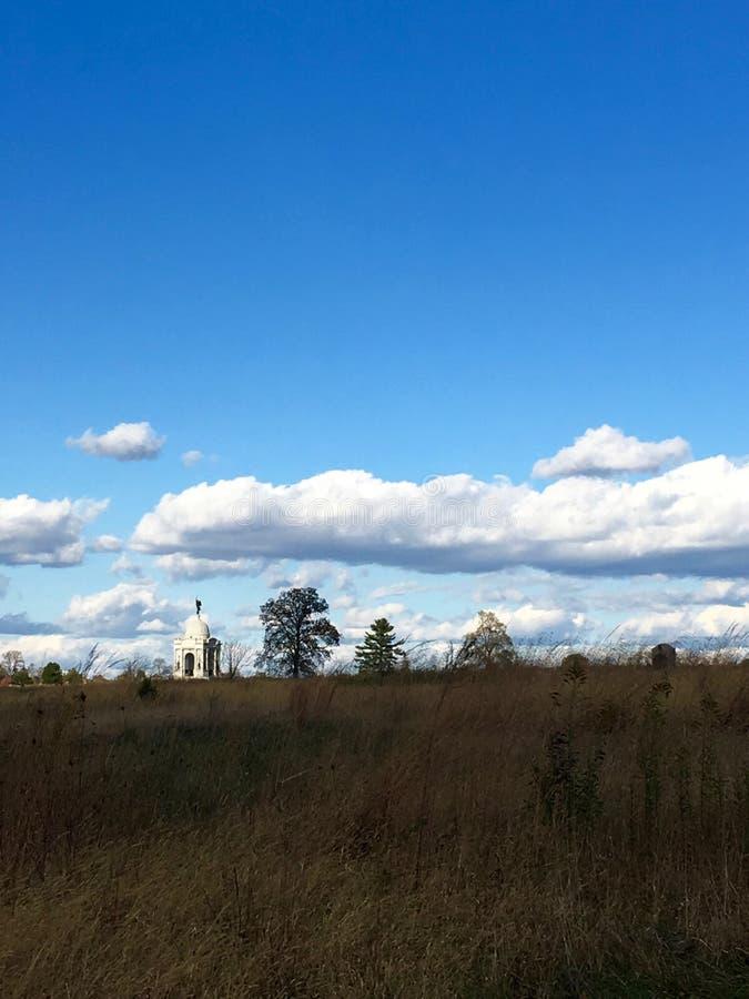 Pennsylwania zabytek przy Gettysburg pole bitwy Gettysburg, Pennsylwania zdjęcie stock