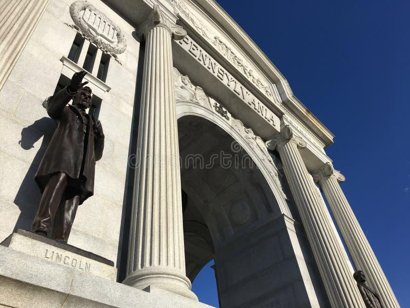 Pennsylwania zabytek przy Gettysburg pole bitwy Gettysburg, Pennsylwania fotografia royalty free