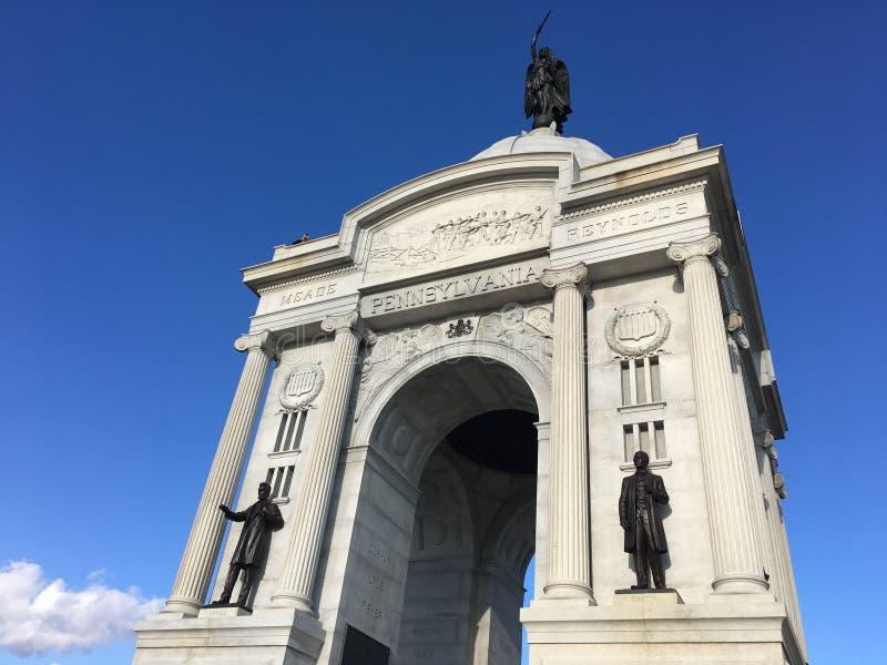 Pennsylwania zabytek przy Gettysburg pole bitwy Gettysburg, Pennsylwania obrazy royalty free