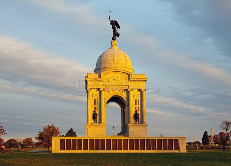 Pennsylwania zabytek w Gettysburg fotografia stock