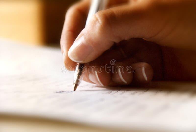 pennwriting arkivbild