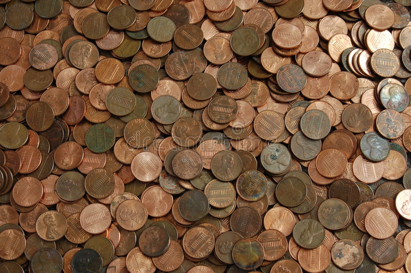 Penny background royalty free stock images