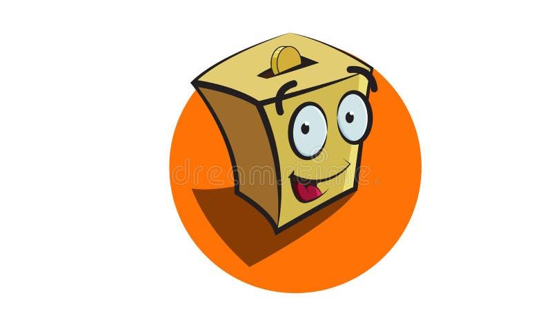 Penny Box Character ilustração do vetor