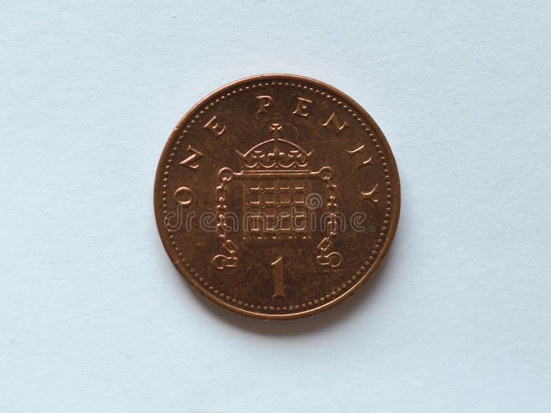 1 penny coin, United Kingdom royalty free stock photography
