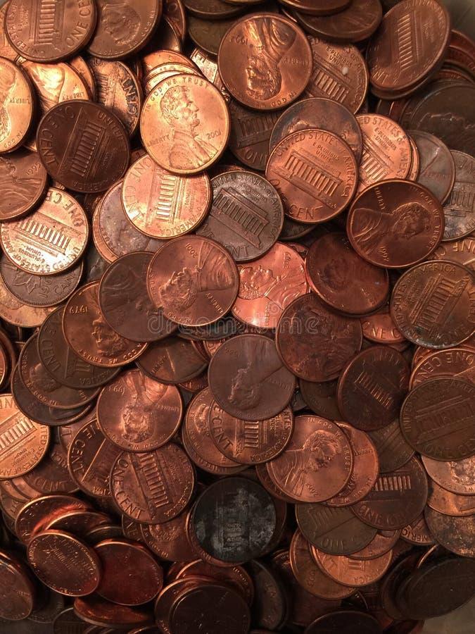 Penny del mucchio o fotografia stock libera da diritti