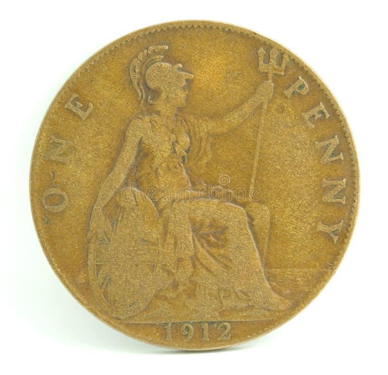Penny dell'Inghilterra. fotografia stock