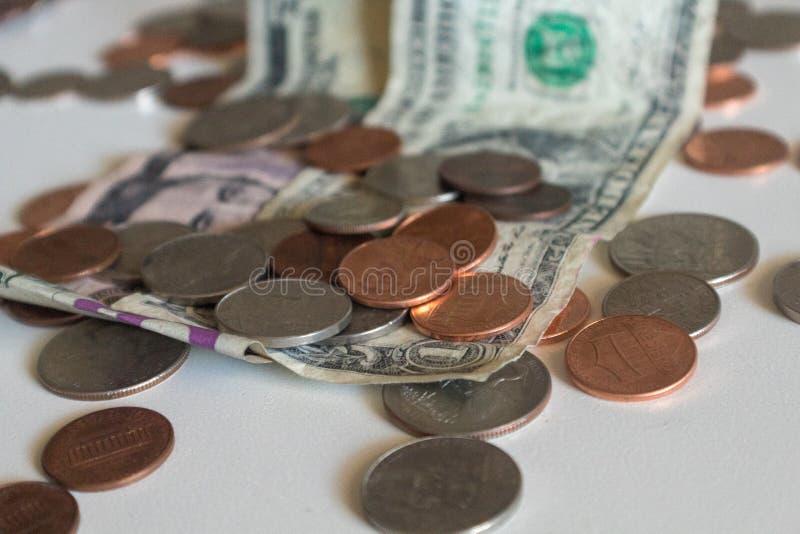 Penny e centesimi fotografia stock