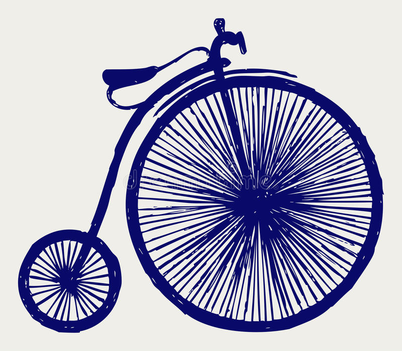 Penny farthing royalty free illustration