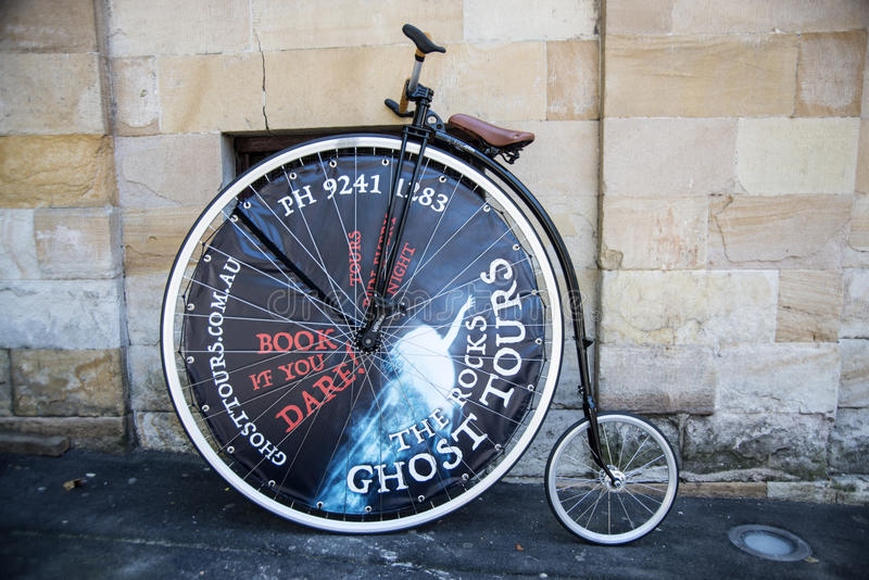 Penny Farthing Bicycle stockbilder