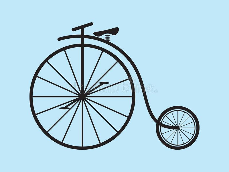 Penny Farthing Bicycle Vector royalty free illustration