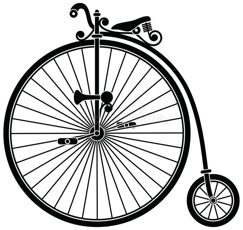 Penny Farthing Bicycle royalty free illustration