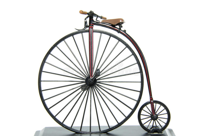 Penny Farthing Historical cykel arkivfoto
