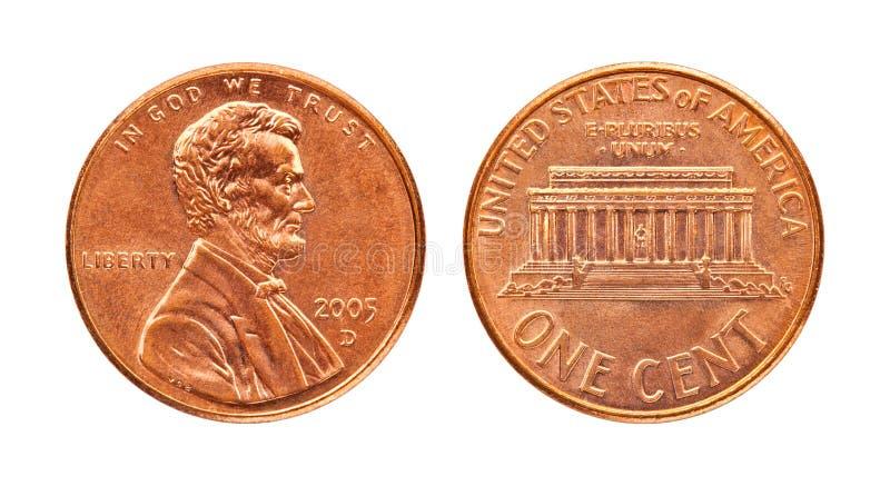 Penny isolato fotografia stock