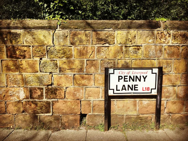 Penny Lane à Liverpool photos libres de droits