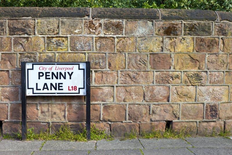Penny Lane i Liverpool royaltyfri foto