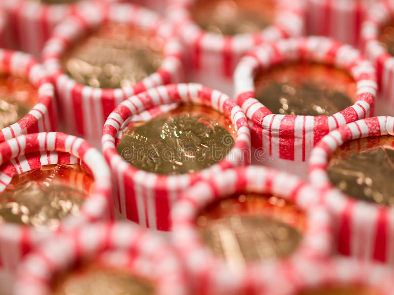 Download Penny Rolls Lined Up In A Box Stock Image - Image: 17474963