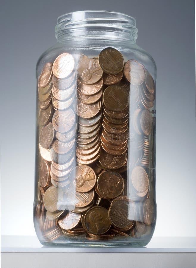 Penny in vaso fotografia stock libera da diritti