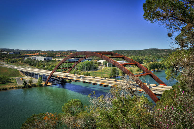 Pennyback桥梁,奥斯汀,得克萨斯 库存照片