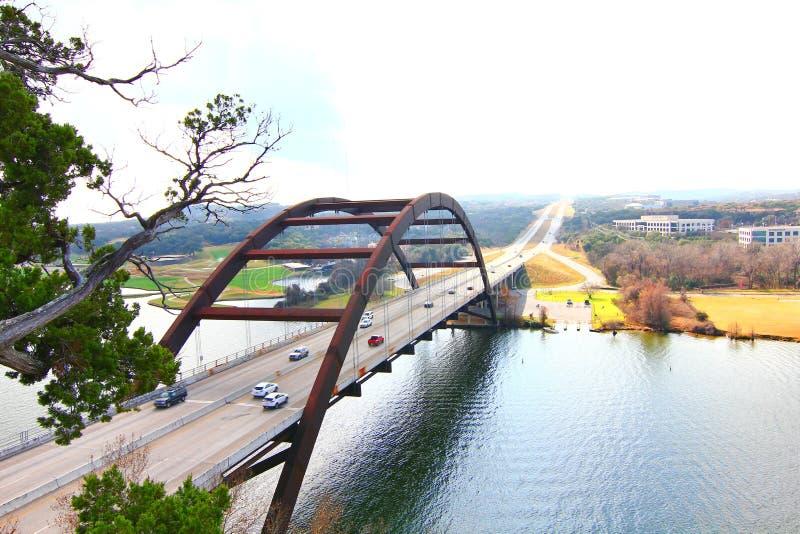Pennybacker桥梁或360桥梁 免版税库存图片