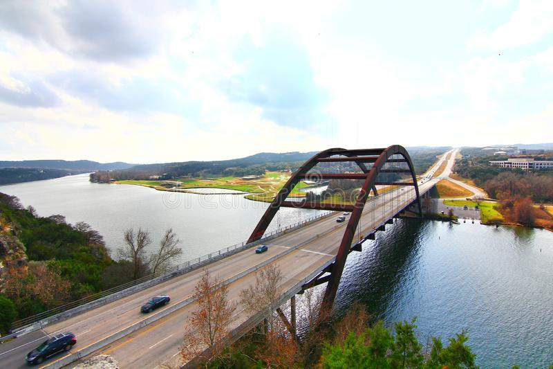 Pennybacker桥梁或360桥梁 免版税库存照片