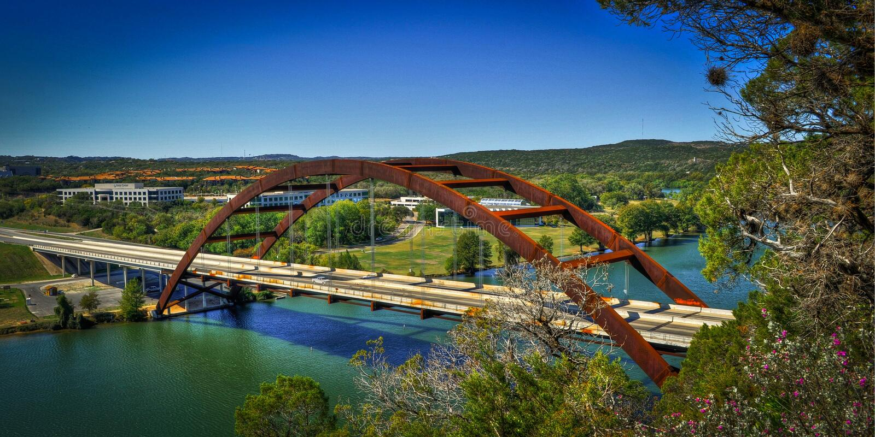 Pennypecker Bridge, Austin, Texas royalty free stock images