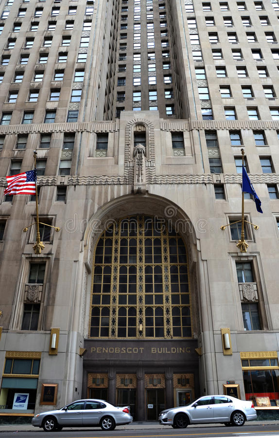 Penobscot building in Detroit, MI royalty free stock photography