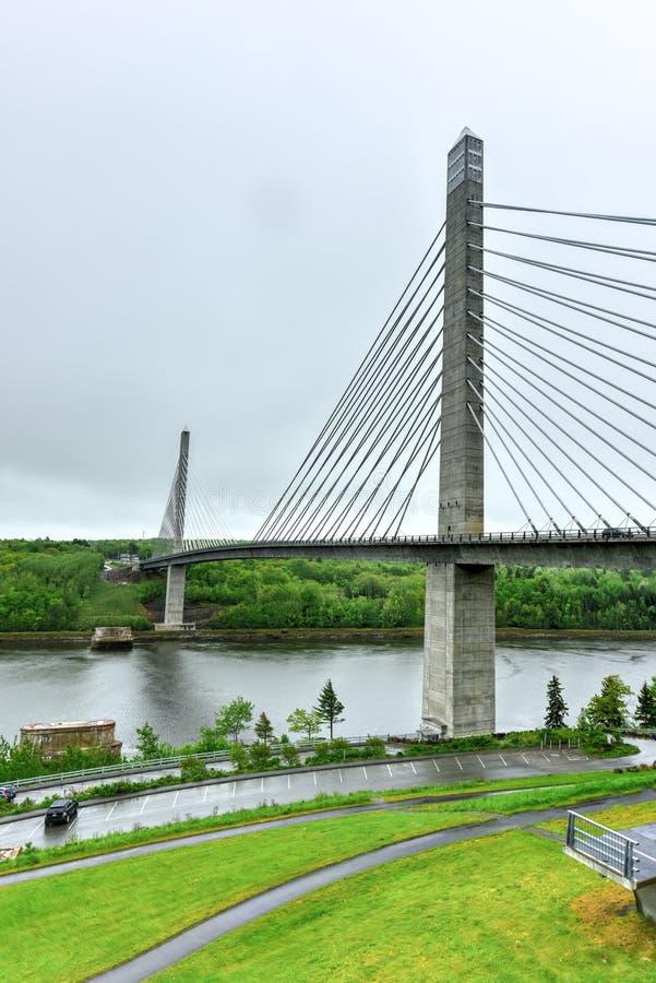 Penobscot przesmyków most - Maine obrazy stock