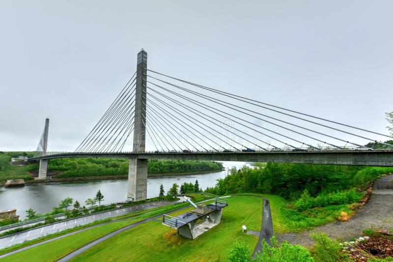 Penobscot przesmyków most - Maine obraz stock