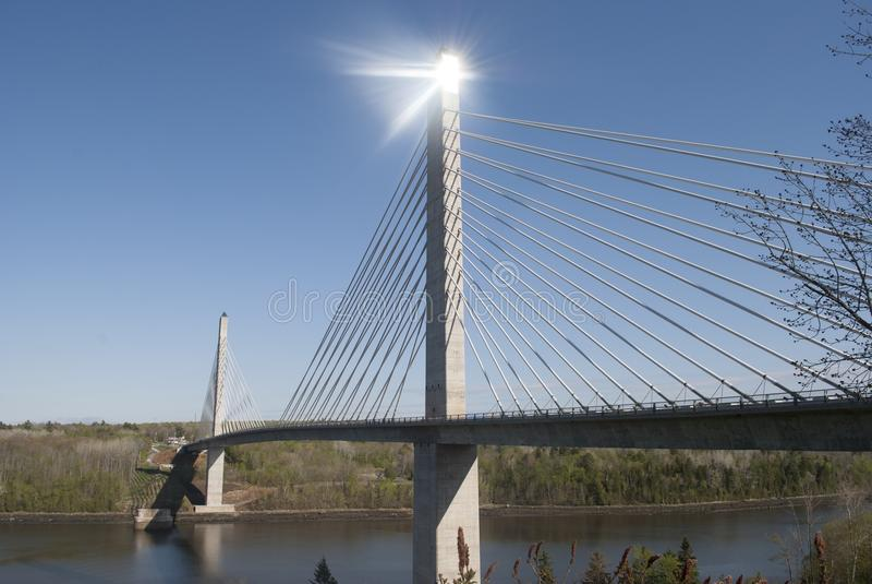 Penobscot przesmyki most i obserwatorium obrazy royalty free