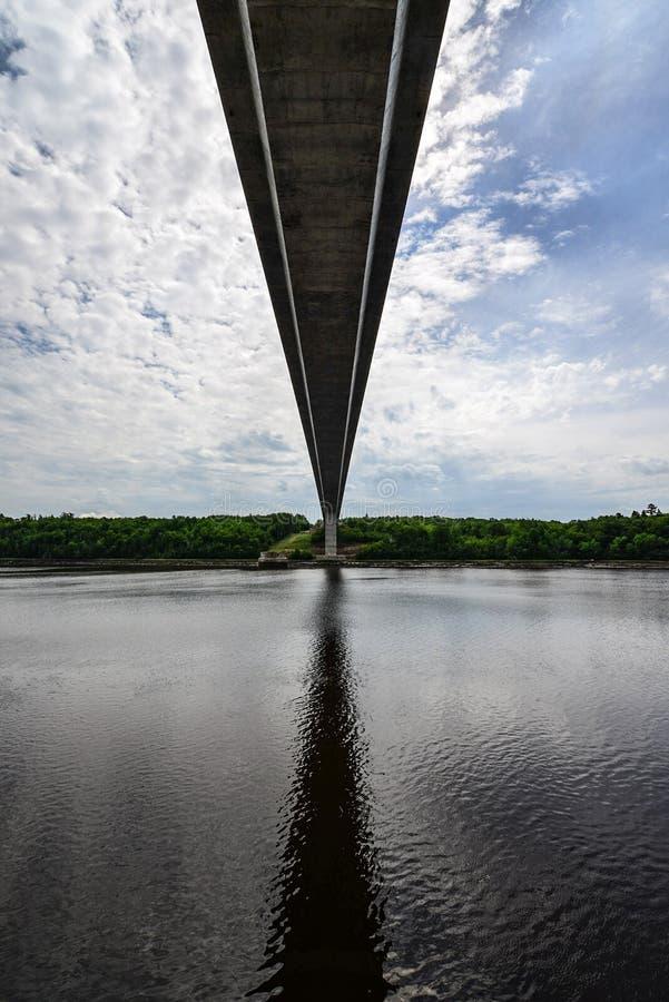 Penobscot restringe il ponte, Maine immagini stock libere da diritti