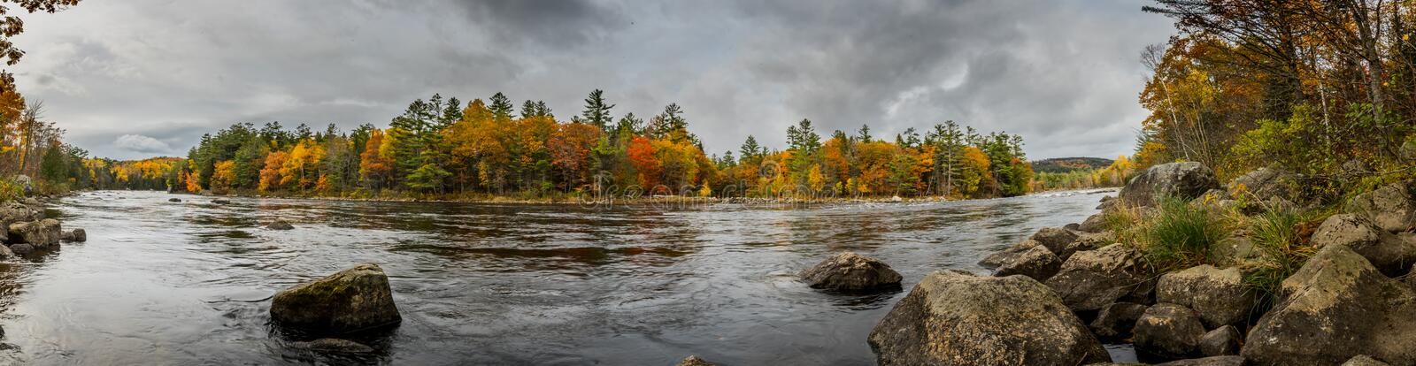 Penobscot River Panorama stock photography