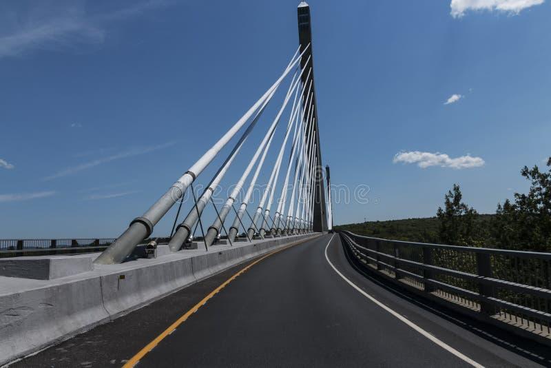 Penobscot verengt Brücke lizenzfreies stockbild